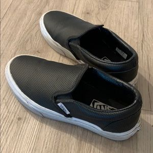 Vans classic slip-on black perforated leather
